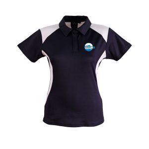 PS32 Lanyon High School PE Polo Shirt Ladies Navy