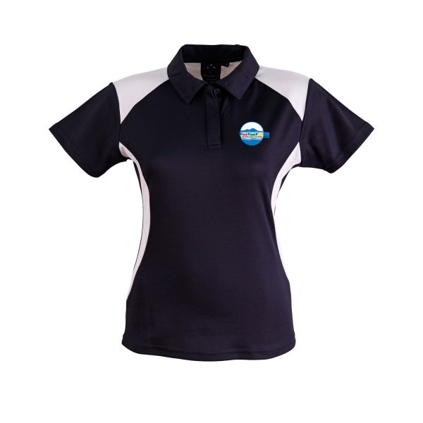 PS32 Lanyon High School PE Polo Shirt Ladies Navy